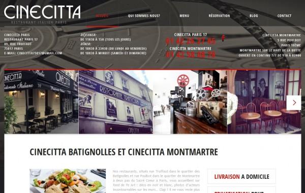 Création site internet – CINECITTA